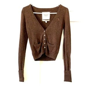 Abercrombie and Fitch Brown cashmere cardigan